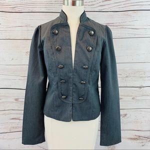 Heart Soul grey military style jacket large
